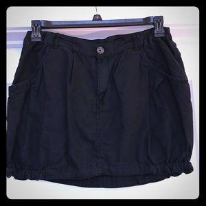 Vintage black jean bubble skirt